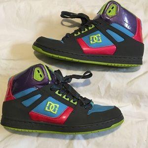 Women's DC brand rebound high sneakers size 10!!